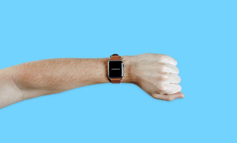 Apple Watch on male Arm Mockup