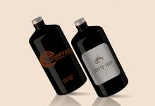 Photo of Big Coffee Bottle Mockup Set Download