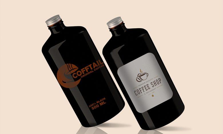 Big Coffee Bottle Mockup Set