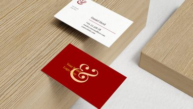 Photo of Business Cards on Wood Mockup Set Download
