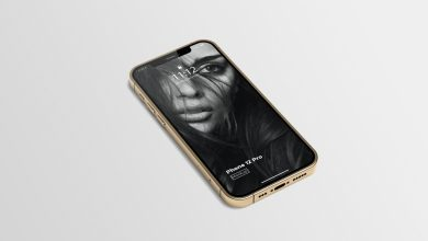 Photo of Gold iPhone 12 Pro Mockup Download