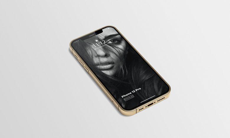 Gold iPhone 12 Pro Mockup