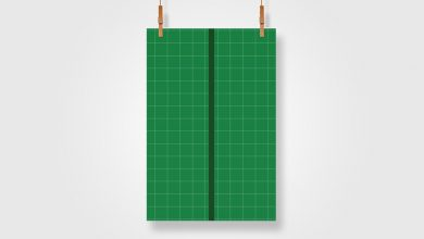 Photo of Hanging A3 Poster Mockup Download