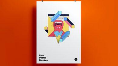 Photo of Hanging, vertical Poster Mockup Download