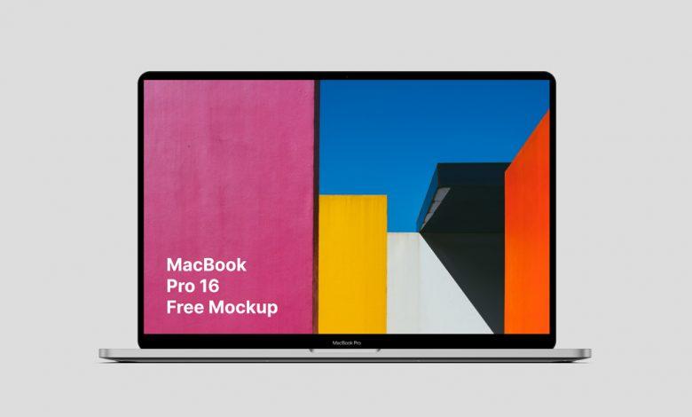 MacBook Pro (16 Inch) Mockup
