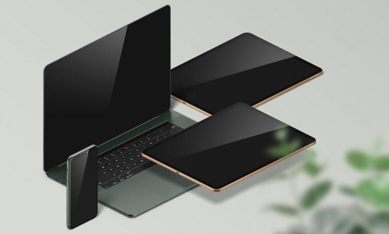 MacBook, iPad and iPhone Mockup