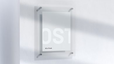 Photo of Office Sign Mockup Download