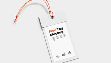 Photo of Paper Clothing Tag Mockup Download
