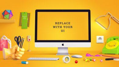 Photo of Playful iMac Scene Mockup Download