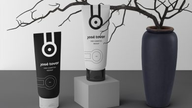 Photo of Standing Cosmetics Tubes Mockup Download