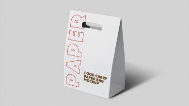 Photo of Take-away Paper Bag Mockup Set Download