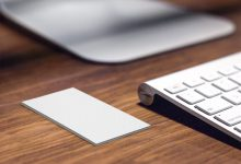 Photo of Vertical Business Card Mockup Generator Download