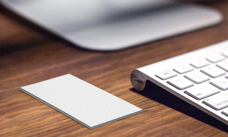 Vertical Business Card Mockup Generator