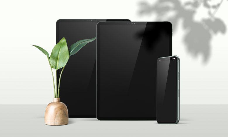 iPad Pros with iPhone Mockup