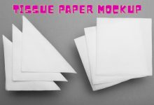 Photo of Why not use a free mockup made of tissue paper?