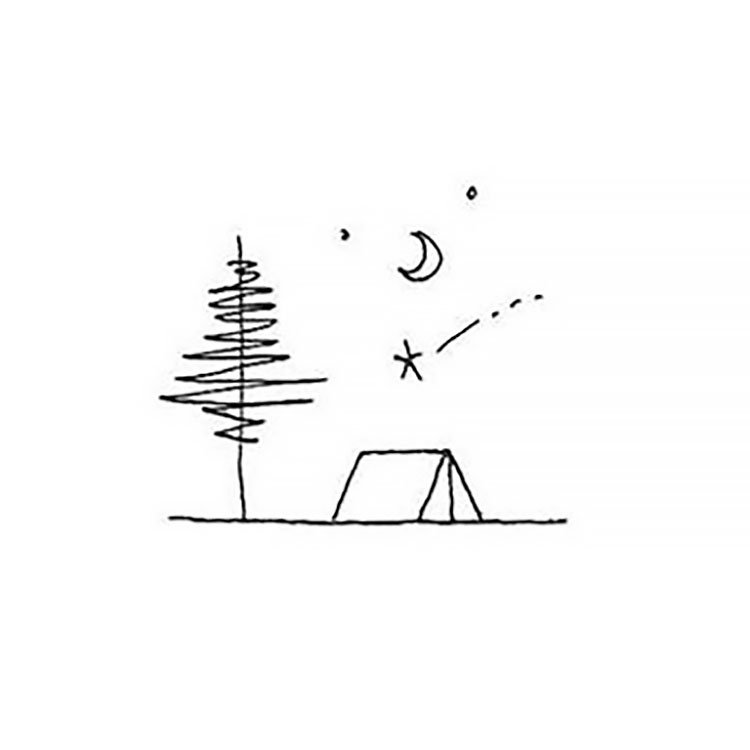 easy sketches to draw - CAMPING SITE
