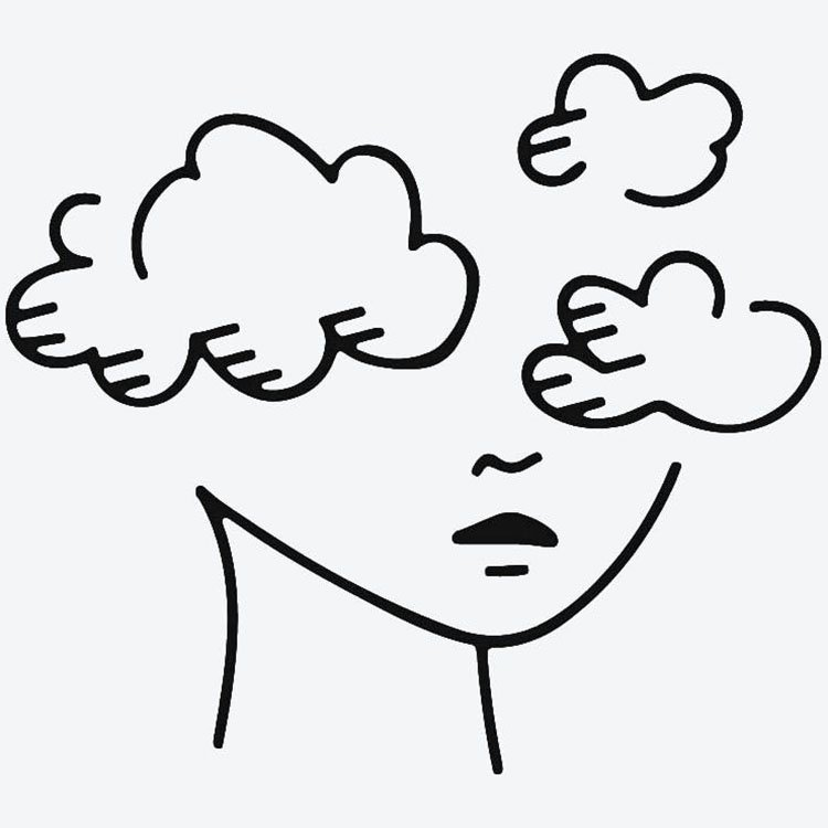 easy sketches to draw - HEAD IN THE CLOUDS