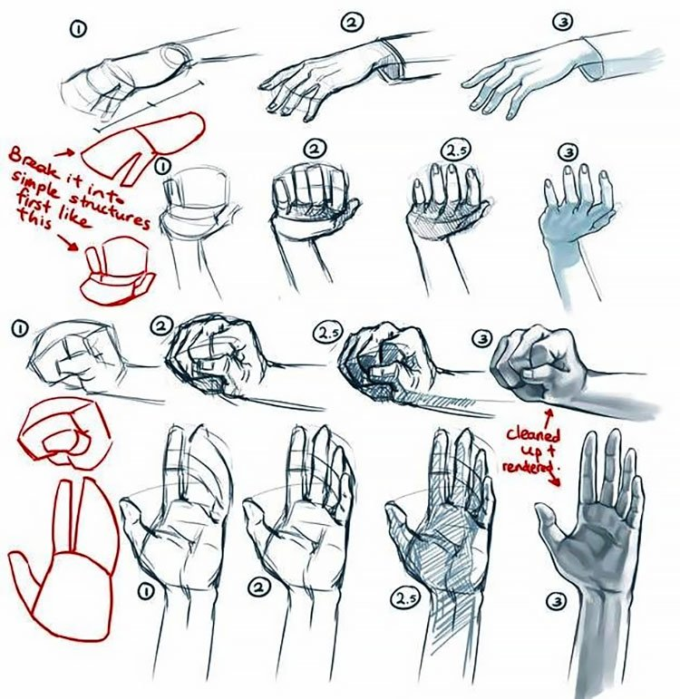 easy sketches to draw - HOW TO DRAW HANDS