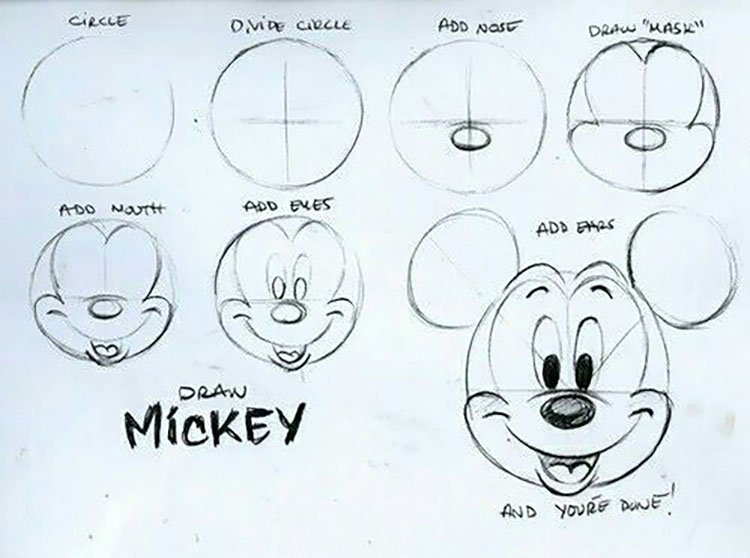 easy sketches to draw - HOW TO DRAW MICKEY MOUSE