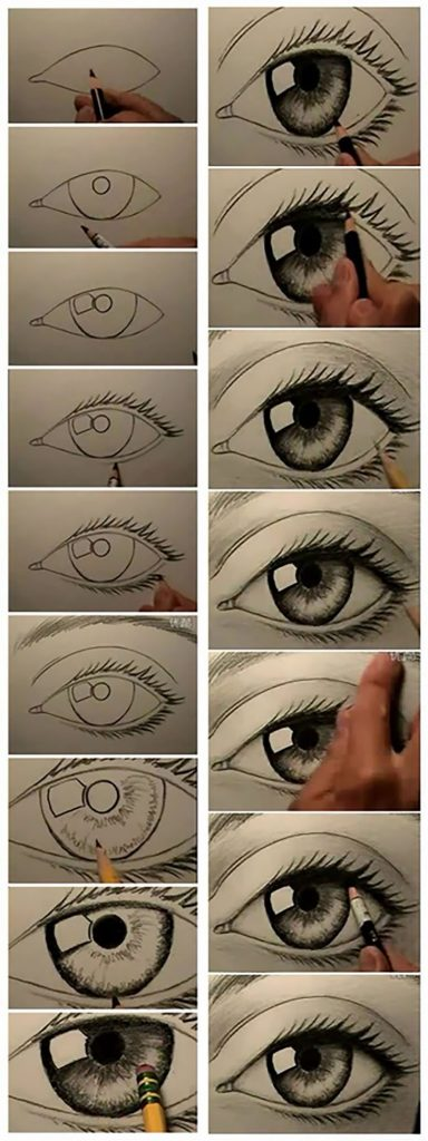 easy sketches to draw - STEP-BY-STEP EYES